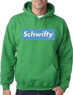 858 - Adult Hoodie Schwifty Supreme Rick Morty Parody Logo Unisex Pullover Sweatshirt