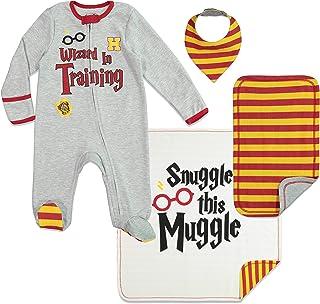Baby Layette Gift Set Footies Blanket Bib & Burp Cloth