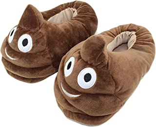 Cute Poop Emoji Slippers Plush Cotton Comfortable Indoor Shoe For Kids & Women With Non-Skid Footpads B11804 We Pay Yours Sales Tax