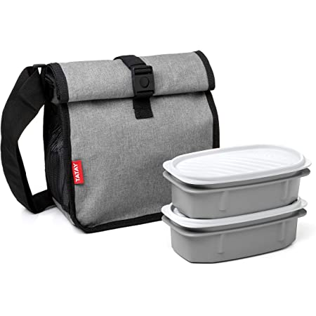 Tatay Urban Food Picnic - Sac Isotherme Repas, Capacité 11 L, Triple Couche de matériau, Flexible et 100% Etánche. Denim Grey, 28.5 x 21 x 24 cm