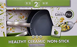 GreenPan Hard Anodized Nonstick Ceramic Skillets 2-Pack - 10/12
