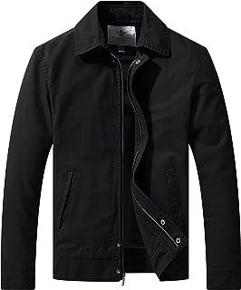 WenVen Men's Lightweight Jacket Cotton Casual Windbreaker