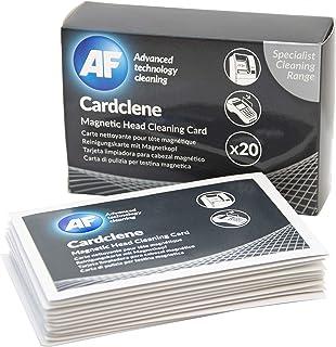 AF Réf CCP020 Cardclene Cartes de nettoyage pour têtes magnétiques Isopropanol Pack de 20