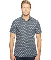 Perry Ellis - Short Sleeve Print on Print Shirt