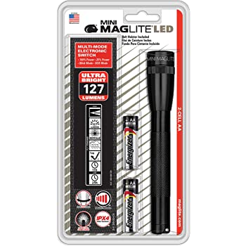 Maglite Black Plain Leather Holster For Aa Cell Mini Flashlights Basic Handheld Flashlights Amazon Com