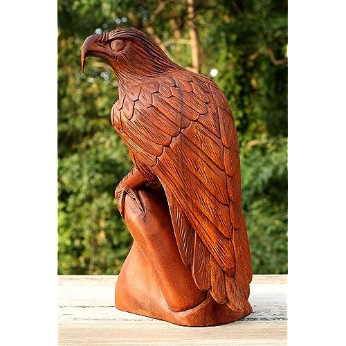 "American Eagle Unique Original Art Handmade USA Small 2/"" Wood Art Figurine"