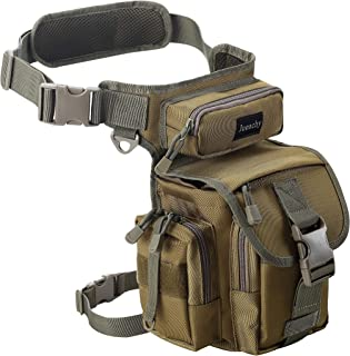 Jueachy Bolsa de Cintura Multifuncional para la Pierna, táctica, Militar, para Pesca, para Motociclismo, Senderismo,