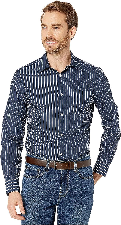 Perry Ellis Men's Contrast Stripe Shirt