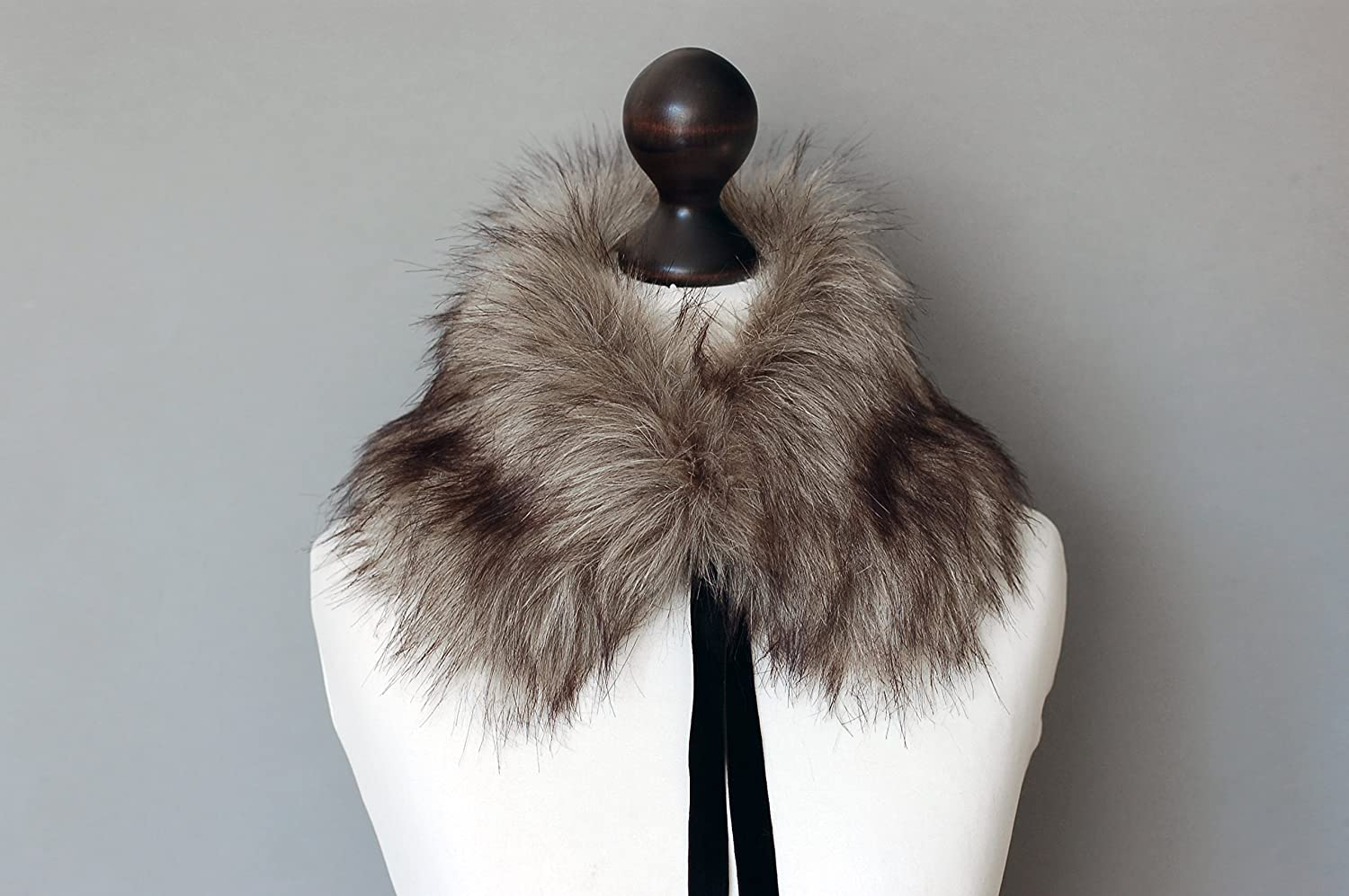 Grey beige sold out faux fur collar. Ranking TOP13 Winter Fur Buy neck f scarf. warmer.