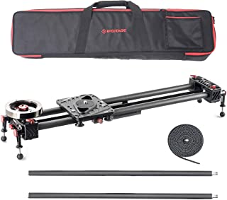 IFOOTAGE Camera Slider Track Carbon Fiber 53'' Dolly Rail Video Stabilizer Professional for DSLR Camera DV Video Camcorder Film Photography - Shark Slider S1 with Extension Tubes (S1B)