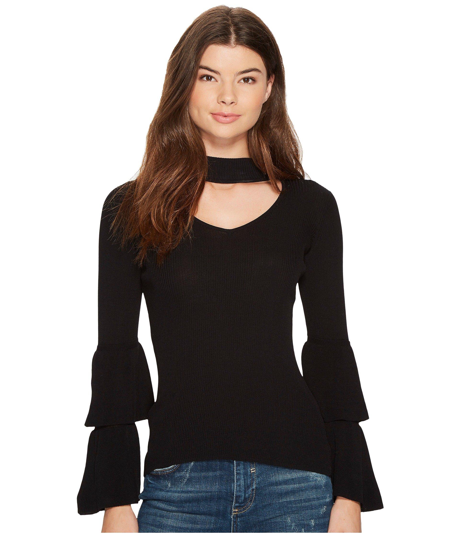 Saco para Mujer XOXO Ruffle Tier Sleeve Mock Neck  + XOXO en VeoyCompro.net