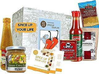 Scharf Essen Geschenk Box Spice up your life | Scharfe Sauce Scharfes Gewürz Chili uvm | Scharfes Geschenk für Männer Gewürz Geschenkset für Frauen