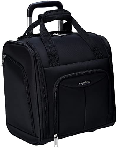 Color : Black, Size : 18inch Smart Backpack 18inch Backpacks with Wheels, Backpacks with Laptop Compartments Business Travel Boarding Cabin Luggage Unisex Holdall Wheeled Bags Accessories Laptop Accessories