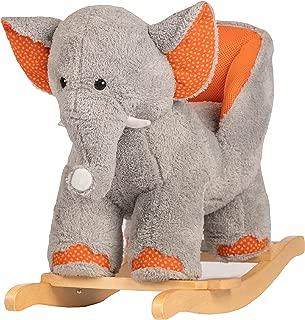 Rockin' Rider Ernie The Elephant Baby Rocker Ride On, Orange