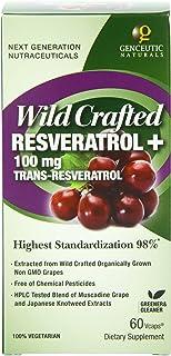 Genceutic Naturals Wild Crafted Resveratrol + 100mg Trans, Veggie Caps 60 ea