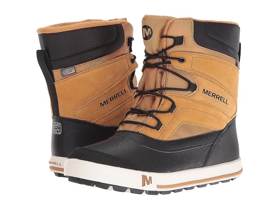Merrell Kids Snow Bank 2.0 Waterproof (Big Kid) (Wheat/Black Leather) Boys Shoes