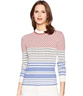 Jil Sander Navy - Long Sleeve Pattern Mix Knit
