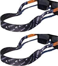 TORTUGA STRAPS Sports Fit Sunglasses & Glasses Strap - 2 Pk   Adjustable Sunglass Straps   Soft & Comfortable Dual Sided Fabric   3MM Floating Neoprene Base for Added Durability   Universal Easy Fit