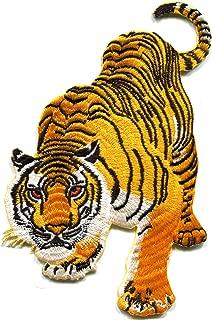 Tiger cat puma jaguar lion leopard wildlife embroidered applique iron-on patch size LARGE new