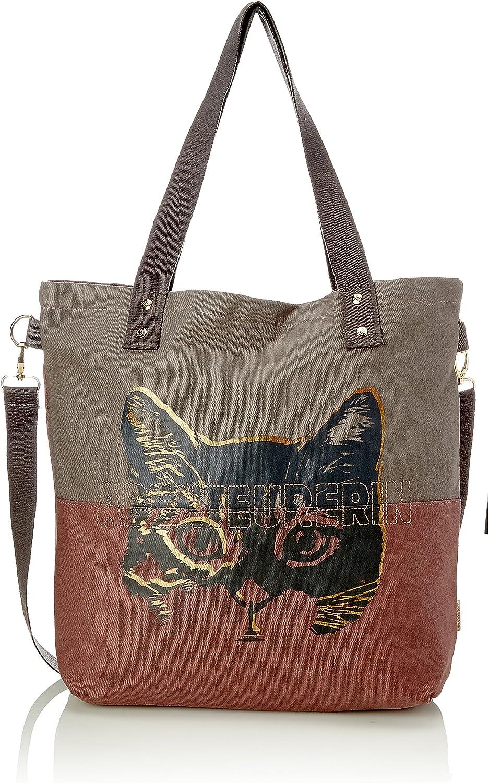 Adelheid Abenteurerin Einkaufstasche, Women's Bag, Grey (Taupe), 10x39x44 cm (B x H T)