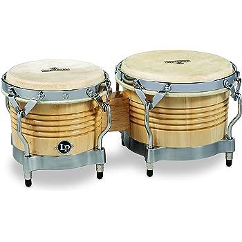 Latin Percussion LP Generation II/Â Bongos Natural//Chrome