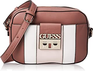 GUESS Women's Kamryn Crossbody Top Zip, Mocha Multi - BC669112