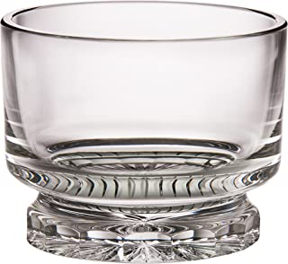 Barski - Hand Cut Mouth Blown Cut Crystal - Footed - Straight Sided Bowl - 9