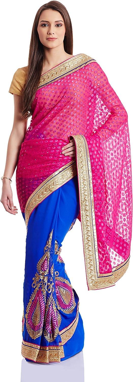 Fashionoma Saree with Blouse Piece (Fashion_Rani_Free Size)