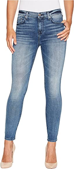7 For All Mankind - The Ankle Skinny w/ Grinded Hem in Wall Street Heritage
