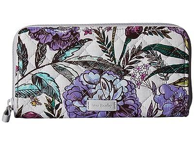 Vera Bradley Iconic RFID Georgia Wallet (Lavender Meadow) Wallet Handbags