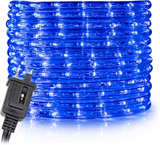 WYZworks 100' feet Blue LED Rope Lights - Flexible 2 Wire Accent Holiday Christmas Party Decoration Lighting | ETL & UL Certified