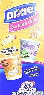 Dixie Bathroom Cups, 3 oz 200 ea, Assorted designs