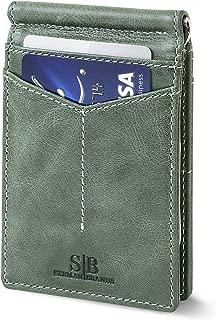Mens Slim Bifold Front Pocket Wallet with Money Clip N1