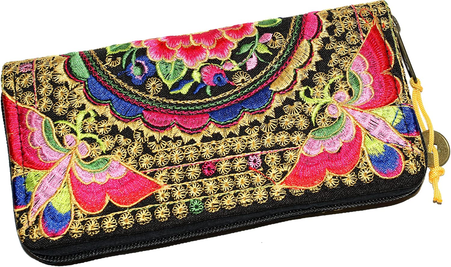 All Best Thing Wallet Bohemian Hippie Hobo Hill Tribe Fabric Handmade Pink Butterfly N024