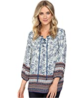 Christin Michaels - Almond Print Top