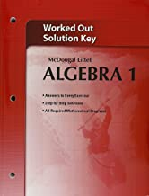 Holt McDougal Larson Algebra 1: Worked-Out Solutions Key