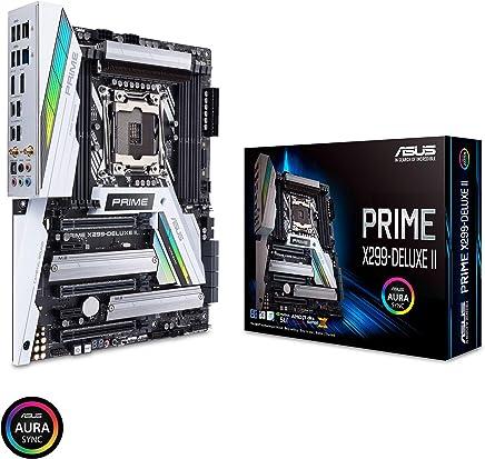 ASUS Prime X299-Deluxe II X299 Motherboard LGA2066 (Intel Core X-Series) ATX DDR4 M.2 U.2 Thunderbolt 3 USB 3.1 with Dual Gigabit LAN and 802.11AC WiFi