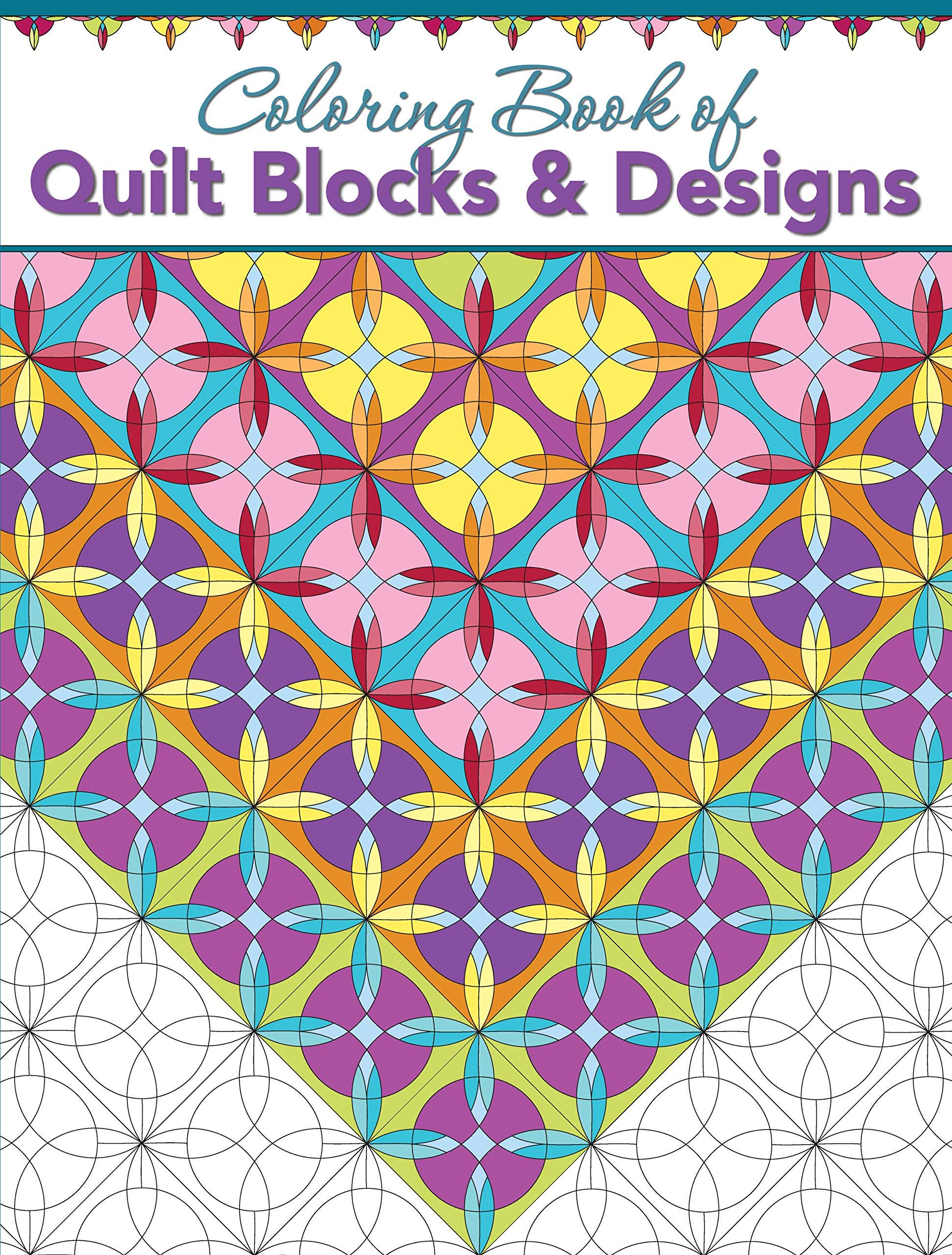 Coloring Book of Quilt Blocks & Designs: Amazon.de: Editors at ...   2560x1943