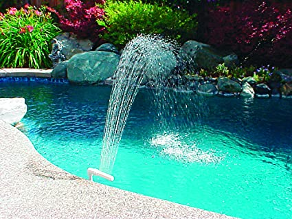 Amazon Com Poolmaster 54507 Swimming Pool And Spa Waterfall Fountain Medium Multi Swimming Pool Accessories Garden Outdoor