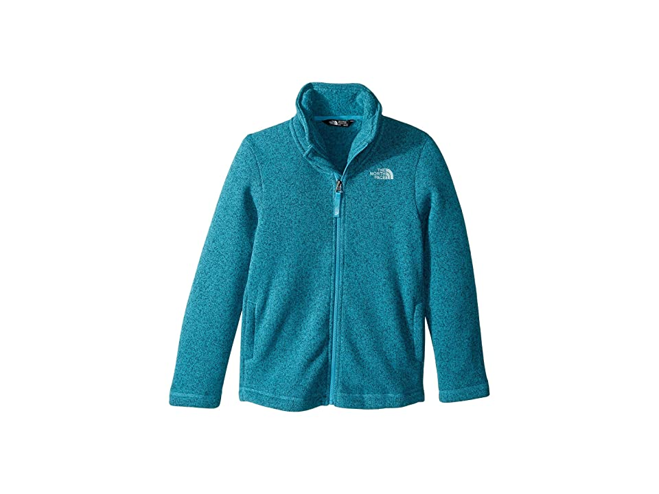 The North Face Kids Crescent Full Zip (Little Kids/Big Kids) (Algiers Blue Heather (Prior Season)) Girl