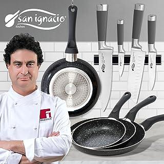 San Ignacio - Set de útiles de Cocina: Cuchillos y sartenes