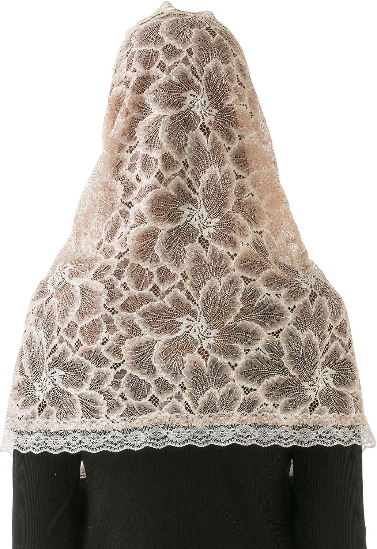 Pamor Schal mit Unendlichkeitssymbol Spitze Lateinamerikanischer Stil Kopfbedeckung floraler Schleier