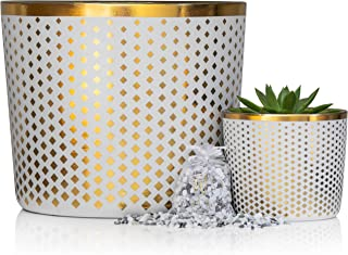 Best large gold flower pot Reviews