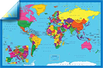 Natural Learning Children's Poster (2-Sided World Map (1 Pack))