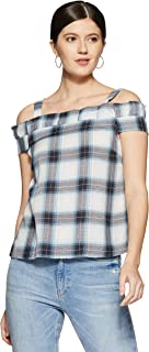 VERO MODA Women's Checkered Regular Fit Top