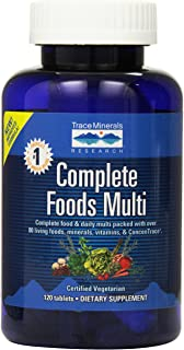 Trace Minerals Complete Foods Multi, Tablets, 120-Count