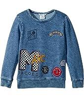 Little Marc Jacobs - MTV Style Badges Long Sleeve Sweatshirt (Toddler/Little Kids)