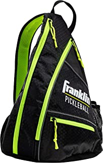 Franklin Sports Pickleball Bag - Men's and Women's Pickleball Backpack - Adjustable Sling Bag - Official Bag of U.S Open Pickleball Championships - Black/Optic