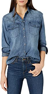 Amazon Brand - Goodthreads Women's Denim Long-Sleeve Western Shirt