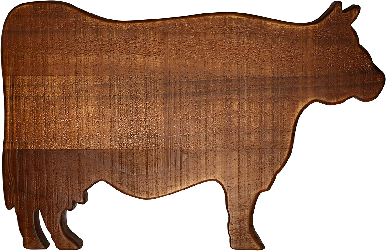 Thirstystone N473 Cow Shaped Cutting Board Brown